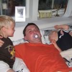 Samuel, Piotr och Max, augusti 2006.