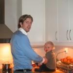 Kockar med Peter julen 2003.