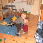 Samuel och Ludvig, Nyårsafton 2003.