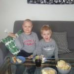 Samuel och Max, mars 2009.