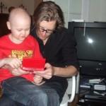 Gamingsession med Peter på min 7-årsdag.