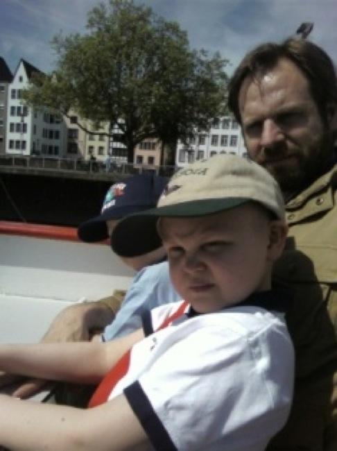 Samuel, pappa och Max, Tyskland 2009.
