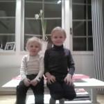 Max och Samuel.