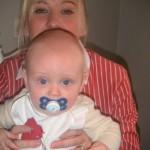 Mamma och Samuel, 6 månader.
